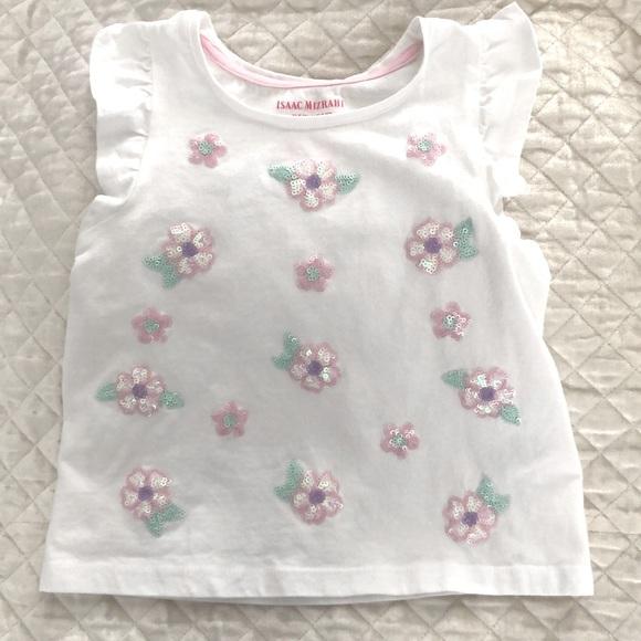 Isaac Mizrahi Girls Shortsleeved Ruffled Shirt